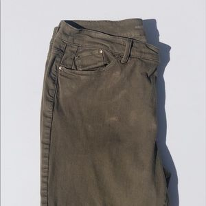 Chico Olive Jeggings size 14